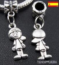 Charm niño plata pulsera europea 2 unidades. Oferta.