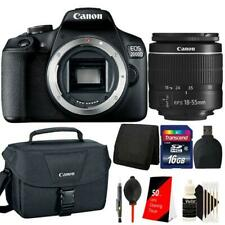 Canon EOS 2000D 24.1MP DSLR Camera + 18-55mm lens + 16GB Accessory Kit