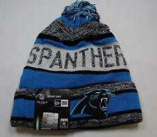 NEW ERA  SPORT KNIT NFL Onfield Panthers Winter Pom Knit Cap Hat Blue