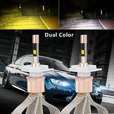H4 HB2 LED Headlight Kit 3000K/6000K Dual Color Light Hi-Lo Beam Bulbs 11000LM