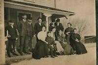 Antique (c.1908) Western Americana Edwardian Family Portrait RPPC Photo Postcard