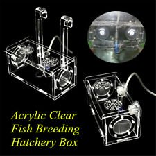 Acrylic Clear Fish Breeding Hatchery Incubator Aquarium Breeder Isolation Box