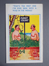 R&L Postcard: Comic, Comicard 2306 Dudley, Nudist, Pipe Smoking