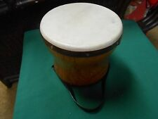 "Great Collectible Wood BONGO DRUM...6.5"" height  7.5"" diameter"