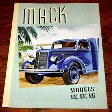 Mack Trucks Models Model EE EF and EG Colorful Advertising Sales Brochure Origi