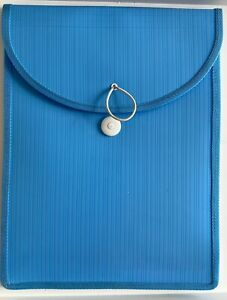 A4 Document Holder Blue - Elastic Closure - Expanding Gusset - Holds 500 Sheets