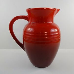 Le Creuset Cherry Red Ceramic 2 Quart Pitcher 9""