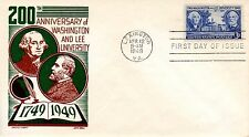 US FDC #982 Washington & Lee University, Cachet Craft (6293)