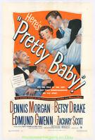 PRETTY BABY MOVIE POSTER 27x41 Inch Original 1950 Very Fine On Linen BETSY DRAKE