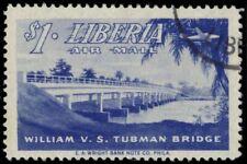 LIBERIA C76 - Airplane over William Tubman Bridge (pb25990)