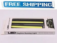 DRL Driving Lamps Fog Auto Car COB LED Lights Bulbs Waterproof White 17CM 12V