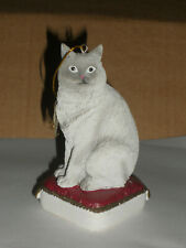 Gray American Shorthair Cat On Pillow Christmas Ornament - New w/tags