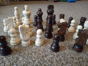 FLASH SALE STAUNTON WOODEN CHESS SET LEATHER INLAID BOARD AND FREE GIFT 63MM