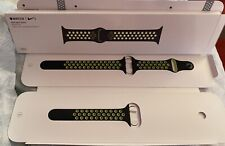 genuine Black Volt Nike 38mm Sport Band apple watch strap