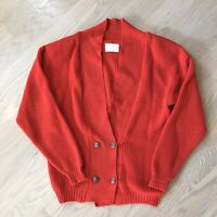 Pendleton Womens Vintage Red Virgin Wool Button Front Cardigan Sweater Size L