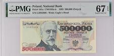 Poland 500000 Zlotych 1993 P 161 Superb GEM UNC PMG 67 EPQ