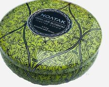 Noatak Scented Luxury 3-Wick Candle In Decorative Tin- Fresh Lime Blossom 30 Hr