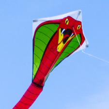 Drachen Kobra RED, ab 3 J., Größe: 44x440cm, mit Drachenschnur, Kobraschwanz