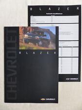 Chevrolet Blazer MJ 2000 - Prospekt Brochure + Technische Daten 09.1999