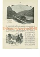 Elan Valley & Capel Nantgwylt, Rhayader, Wales, Book Illustration (Print), c1893