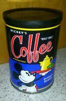 Mickey Mouse Walt Disney World Disneyland Coffee Tin Really Swell *EMPTY*