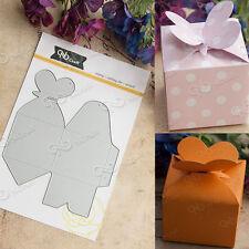 Metal Heart Gift Box Cutting Dies Stencils Scrapbooking Album Embossing Card DIY