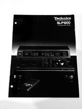 Technics Sl-1200 CD Player Original Litearture