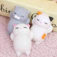 3pcs Cute Mochi Squishy Cat Squeeze Healing Fun Kids Kawaii Toy Stress Relief US