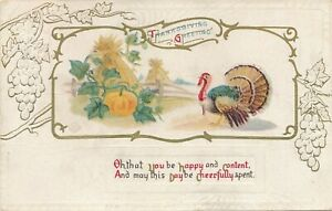 THANKSGIVING – Oh That You Be Happy and Content - 1912