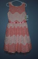Speechless Apricot Pastel EASTER Lace Dress Special Occasion Girls sz 7  NWT