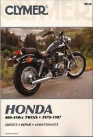 Honda CB400 CB450 CB CM CMX 400 450 Twin Rebel Nighthawk CLYMER REPAIR MANUAL