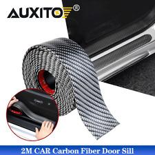 2M Carbon Fiber Car AUTO Door Plate Sill Scuff Cover Anti Scratch Sticker