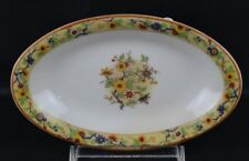 Haviland Limoges Chantilly Schleiger 940 Flowers Oval Platter 11 3/4""