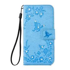 Samsung Galaxy S8 Plus Handy Schutz Hülle Strass Bling Diamant Wallet Case Cover