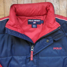 Vintage Polo Sport Ralph Lauren 90s Navy red classic light Jacket size L