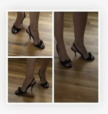 Marc Jacobs Pump Heel BLACK leather  Size 6 Peep Toe