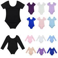 Girls Ballet Dance Leotard Kid Gymnastic Cotton Soft Bodysuit Jumpsuit Dancewear