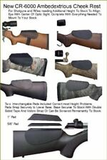 Accu-riser Molded Black Cheek Rest for Shotguns & Rifles w/ Interchangeable Pads