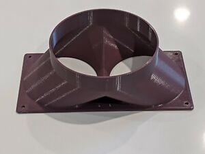 ASIC Double Fan Shroud - 150mm Round -  120mm. Heat Management