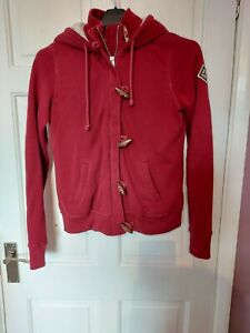 Red Hollister Hoddie/Jumper. Size S with fur lining.