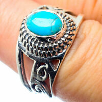 Arizona Turquoise 925 Sterling Silver Ring Size 7.25 Ana Co Jewelry R26795F