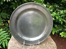 More details for antique english pewter charger dating from the late 18th/early 19th century