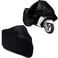 Black Waterproof Motorcycle Motorbike Bike Rain Cover Outdoor Indoor 2XL + Bag