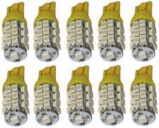 10x ampoule T10 W5W 12V 25LED SMD jaune éclairage intérieur plaque coffre seuils