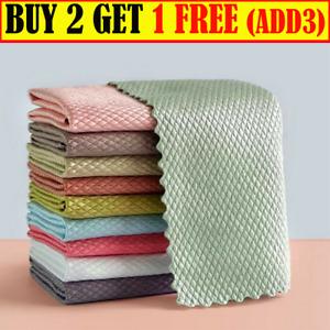 1/5/10 Pcs NanoScale Streak Free Miracle Polishing Reusable Cleaning Cloths UK