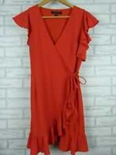 Forever New Red wrap dress Size 10