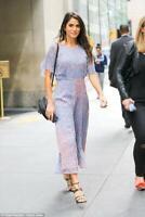 New LK Bennet Madison Chiffon Print Dress, Purple Size UK 8