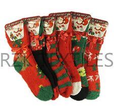 3 Pairs Of Cosy Christmas Slipper Socks, Xmas Fluffy socks Winter Gift, XM88