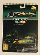 John Deere Motorsports Cab Trailer & Stock Car 1/144 Scale Racing Champions 1997