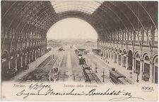 TORINO - INTERNO DELLA STAZIONE 1901